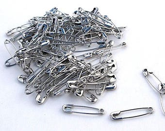 100 safety pins 20 x 5 mm