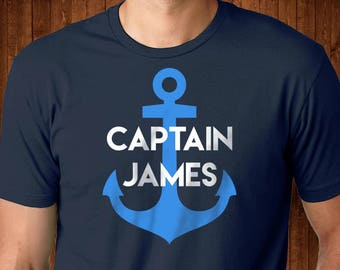 Personalized Captain Shirt - Sailing Dad - Shirt for Dad - Captain Dad - Sailor Shirt - Sailing shirt - Boat Shirt