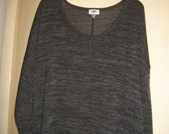 Vintage 90's Old Navy Gray Knit Top Size XXL/2X