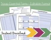 Troop Essential Forms - Editable Format