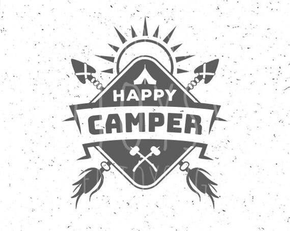 happy camper svg file camping svg happy camper svg file tent