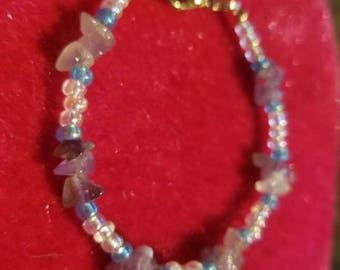 Amythest Beaded Bracelet