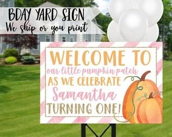 Pumpkin Birthday Sign, Pumpkin Birthday Yard Sign, Pumpkin Sign, Pumpkin Party, Pumpkin Welcome Sign, Pumpkin Patch Sign, Little Pumpkin