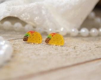 Taco Earrings | Handpainted | Taco Lover | Handmade Jewelry | Earrings | Stud Earrings | Acrylic