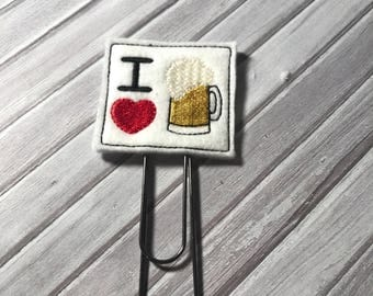 Beer Giant paper clip, planner clip, alcohol paperclip, planner paperclip, planner accessory, Beer bookmark, food paperclip, drink paperclip