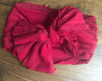Red ruffle wrap