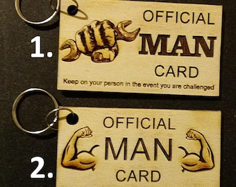 Official Man Card Keychains