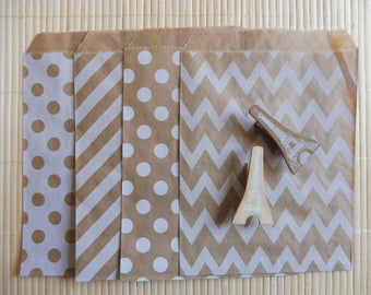 paper bags 10 piece set Middy Bitty Chevron in 4 designs here are listed and numbered lists