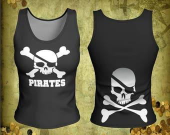 Pirates t-shirt, Pirate tank top, International talk like a pirate day, skull t-shirt