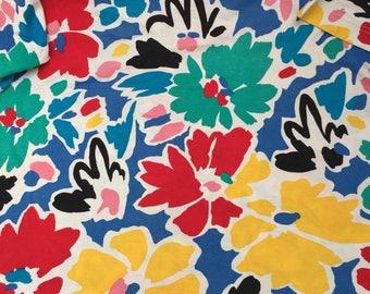 80s patterned floral bright summer festival Vintage t shirt top like new marimekko style