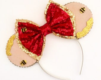 The Trouble with Bees - Handmade Mouse Ears Headband