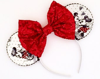 The Love Story - Handmade Mouse Ears Headband
