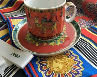 Versace  x Rosenthal tea cup - Le Voyage de Marco Polo