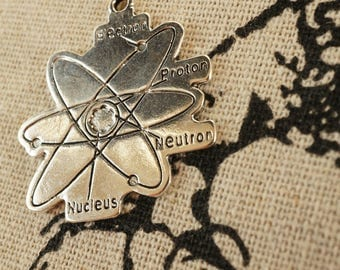 Atom 2 silver  pendant charm jewellery supplies