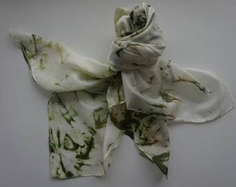 Handpainted silk scarf 90x90 cm