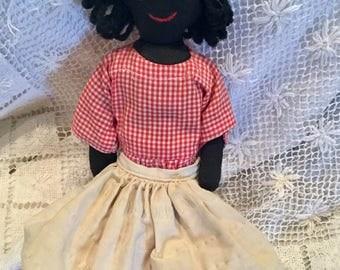 Vintage Black Americana rag doll