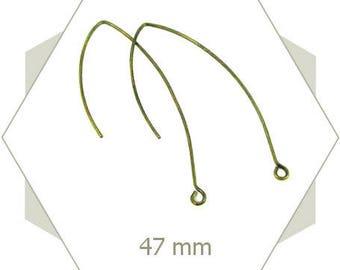 24 long AB73 bronze earrings hooks