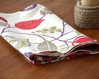 """The flowering"" cotton table runner"