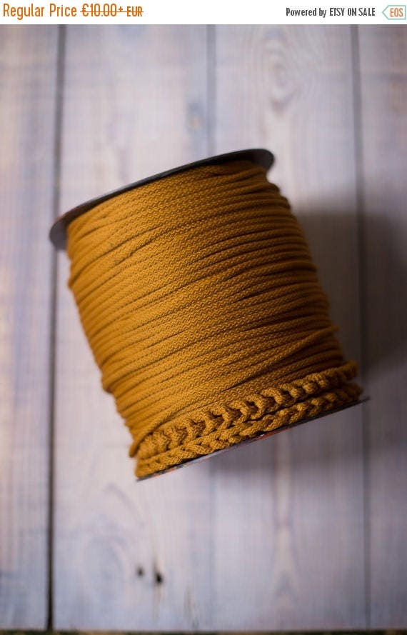 15 % OFF GOLDENROD rope cord, chunky yarn, colored rope, diy crafts, craft supplies, diy projects, rope yarn, polyester cord, rope cord. #53
