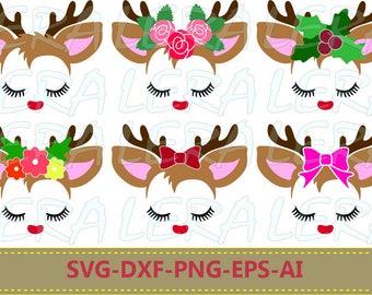 60 % OFF, Little Deer svg, Deer with eyelashes, Baby svg, Birthday, Little Deer face  SVG, dxf, ai, eps, png, Little Deer Vector Files