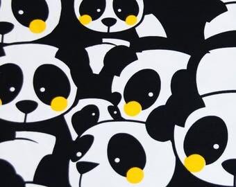 Panda yellow cheeks jersey fabric stretch cotton elastane spandex lycra