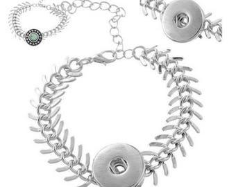 Chain bracelet DIY 16.5 cm snap fish bone