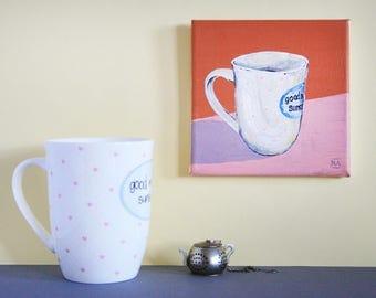 Original Cozy Mug Painting