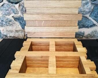 Personalized tea box/ Wedding tea box/ Wedding tea holder/ Tea lover gift/ Custom tea box/ Wooden tea chest/ Wood tea storage chest