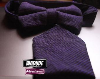 Purple Wadude Bow Tie & Pocket Square