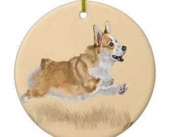 Corgi Ornament Customizable With Name!
