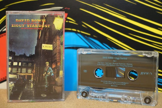 The Rise And Fall Of Ziggy Stardust And The Spiders From Mars by David Bowie Vintage Cassette Tape