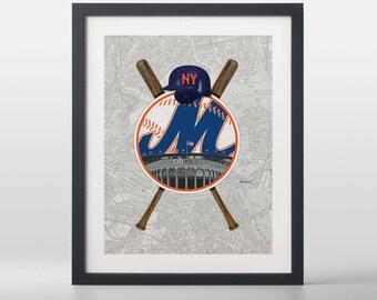 New York Mets-inspired Baseball Art Print