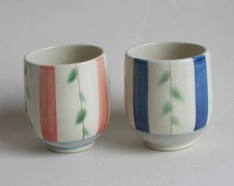 Japanese 2 tea bowls,tea cups, meoto-chawan,tea cups for couple