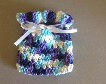Gift Bag/Potpourri Bag - Purple, Blue, and White  (0601)