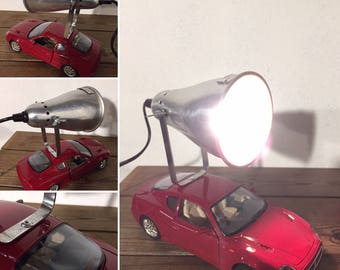 Upcycled industrial lamp loft deco stickers