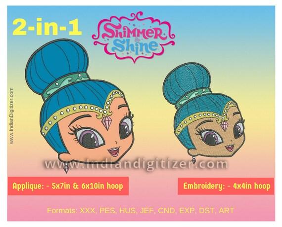 Indiandigitizer Shine From Shimmer Shine 2 In 1 Applique For