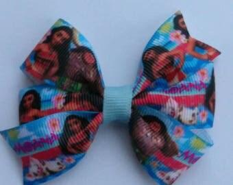 Moana hair bow, Character hair bow, Island hair bow, flower hair bow, princess hair bow, Moana and Maui pigtail bows