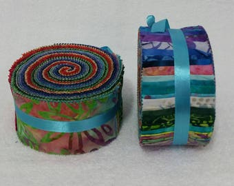 Batik Jelly Roll - Rainbow Tones