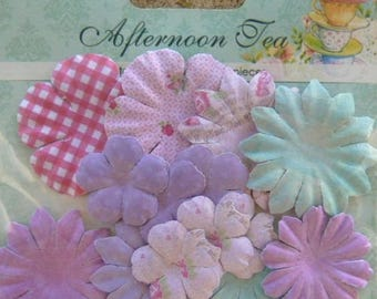 24 flowers, blossoms paper SCRAPBERRY's AFTERNOON TEA
