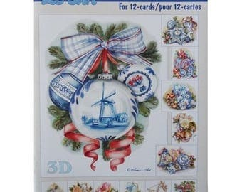 Paper sheets 3D decoupage, collage, cardmaking Christmas 662