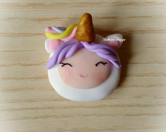 Baby unicorn girl polymer clay favor baby shower baptism communion birthday