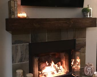 Fireplace Mantel with Outlet