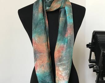 Prophetic - Silk Scarf - Gifts for Women - Dyed Silk - Christian Gifts - Narrow Infinity Silk Scarf called My Path
