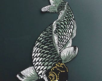 1pcs back patch large patch large carp high quality cool patch embroidered patch no.148