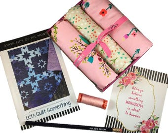 "Complete Modern Maker Box - Meriwether by Amy Gibson for Windham Fabrics - Box ""Pink"" -  Quilters Cotton"