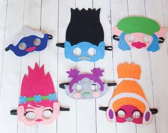 Trolls Mask Party Favor Dress up Costume