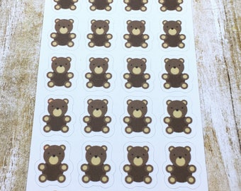 Teddy Bear Stickers, Planner Stickers, Animal Stickers, For Your Planner or Bullet Journal