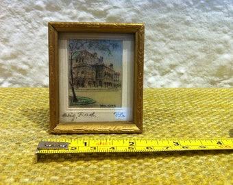 Antique Picture Frame painted Dollhouse Miniature Accessoires