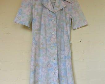 Lovely spotty floral day dress - size 8/10