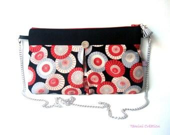 Sac à main Pochette  sac de soirée en tissu japonais Ombrelles
